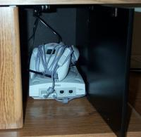 The Dreamcast, tucked away next to the VCR